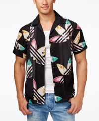 Adidas Originals Men's Pharrell Williams Printed Surf Shirt Black Multi