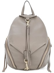 Rebecca Minkoff Small Dogclip Backpack Women Cotton Leather One Size Grey