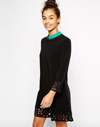 The Laden Showroom X Even Vintage Cutwork A Line Dress Black