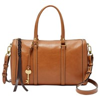 Fossil Kendall Leather Satchel Saddle