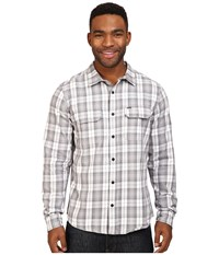 Hurley Unite Yarn Dyed Flannel Wolf Grey Men's Clothing Gray