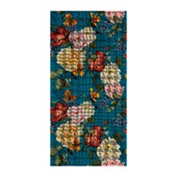 Moeve Roses Bath Towel Blue
