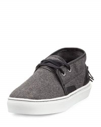 Clear Weather Mid Top Wool Sneaker Gray