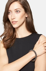 St. John Faux Pearl Bangle Gold Mystic Black Pearl