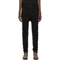 Boris Bidjan Saberi Black Resin Dyed Jeans