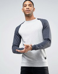 Only And Sons Sweatshirt With Raglan Sleeves Grey Marl