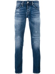 Cycle Distressed Slim Fit Jeans Blue