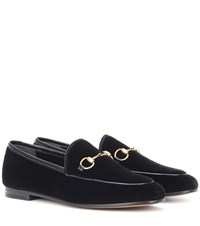 Gucci Jordaan Velvet Loafers Black
