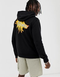 Cheap Monday Hoodie With Electric Back Print In Black