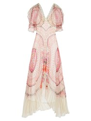 Temperley London Dream Catcher Silk Chiffon Dress Pink Print