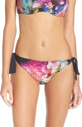 Ted Baker Women's London Focus Bouquet Side Tie Bikini Bottoms