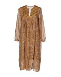 Bella Jones Long Dresses Camel