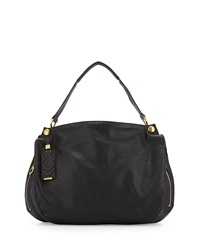 Oryany Kerry Grain Leather Shoulder Bag Black
