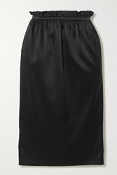 Versace Satin Midi Skirt Black