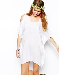 Asos Cold Shoulder Beach Cover Up White