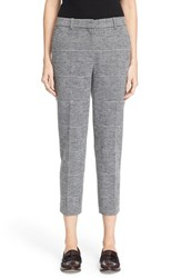 Theory Women's 'Treeca K' Check Plaid Knit Crop Pants Grey Multi