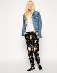 Asos Joggers In Wild Flower Print Multi
