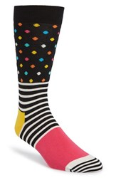 Men's Happy Socks Stripe And Dot Socks
