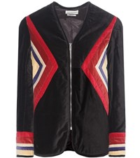 Etoile Isabel Marant Lalia Velvet Cotton Jacket Black