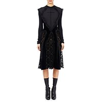 Givenchy Women's Ruffle Damask Dress Black Size 0 Us