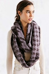 Urban Outfitters Houndstooth Eternity Scarf Purple