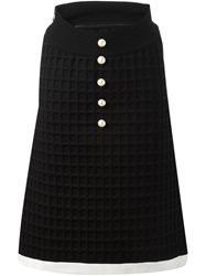 Chanel Vintage Neoprene Skirt Black