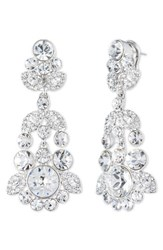 Givenchy Women's Crystal Chandelier Earrings Silver