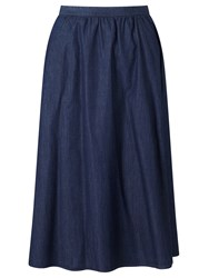 John Lewis Collection Weekend By Midi Skirt Blue