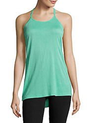 Electric Yoga Solid T Back Tank Top Mint