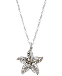 Lucky Brand Two Tone Starfish Pendant Necklace