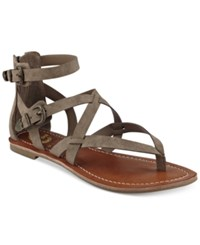 G By Guess Hearn Caged Sandals Women's Shoes Mushroom