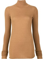 Rick Owens Lilies Turtle Neck Jumper Brown