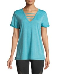 The Balance Collection Riley Banded V Neck Tee Blue
