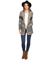 Lucky Brand Blanket Cardigan Natural Multi Women's Sweater