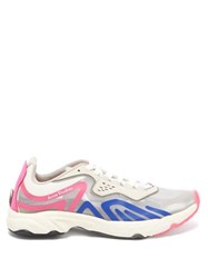 Acne Studios Panelled Suede And Mesh Trainers Pink Multi