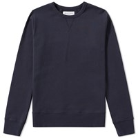Officine Generale French Terry Crew Sweat Blue