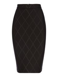 Pied A Terre Scuba Embossed Skirt Black