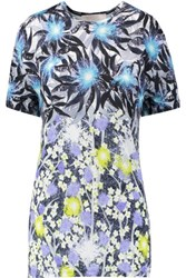 Peter Pilotto Printed Jersey T Shirt Bright Blue