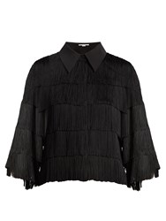 Stella Mccartney Fringed Georgette Shirt Black