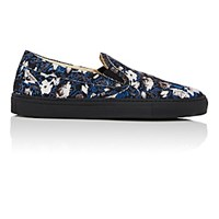 Barneys New York Men's Slip On Sneakers Black Blue Black Blue