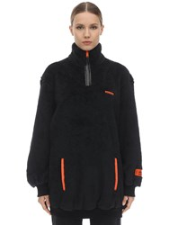 Heron Preston Oversize Fire Techno Teddy Jacket Black
