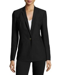 1.State Satin Back Crepe Tailored Jacket Black