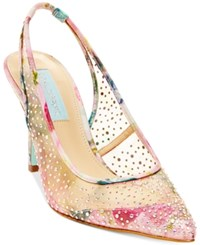 Blue By Betsey Johnson Quinn Slingback Pumps Women's Shoes Floral