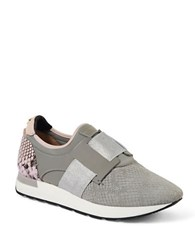Ted Baker Kygoa Embossed Trainers Grey