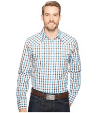 Stetson 1149 Teal Ombre Check Grey Men's Clothing Gray