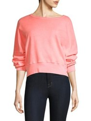 Stateside Cropped Cotton Sweatshirt Sorbet
