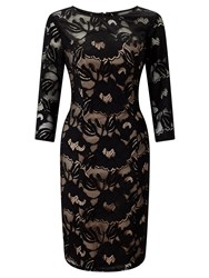 Adrianna Papell 3 4 Sleeve Lace Dress. Multi Coloured Multi Coloured