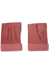 Agnelle Nubuck Fingerless Gloves