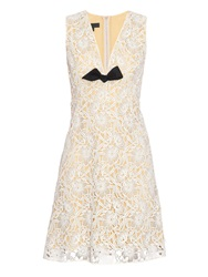 Burberry Floral Macrame Lace Sleeveless Dress