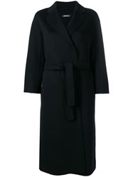 Max Mara 'S Esturia Wrap Around Coat Black